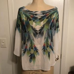 Charlotte Russe feather shirt